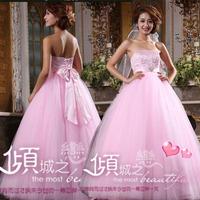 2013 wedding formal dress cheongsam red pink high waist big train maternity wedding dress