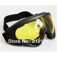 Tactical Airsoft X400 Tactical Wind Dust Protection Goggle Motorcycle Glasses Yellow