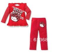 Free Shipping!&5pcs/LOT!clothing 2013 children long sleeve underwear,hot sales,clothing set,children clothing girls,girl's dress