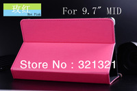 Free Shipping (100pcs/lot) Universal PU Leather Protective Case Cover for 9.7 inch Tablet PC/ E-PAD MID Solid Color Fashionable
