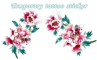 colorful flowers for back leg Good quality Temporary tattoos Waterproof tattoo stickers body art Painting wholesale