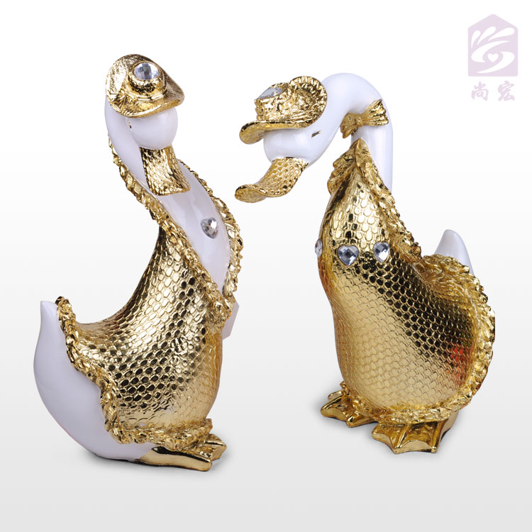 Goose decoration lovers duck crafts home decoration married(China (Mainland))