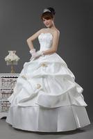 New arrival 2013 brief sweet wedding dress flower princess wedding dress formal dress hs8990