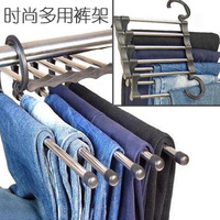 Magic 3430 magic retractable hanger stainless steel multifunctional hanging pants rack metal multi-layer hanging pants rack