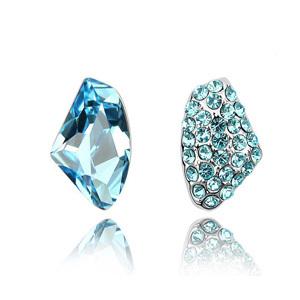 Star accessories austria crystal wishing stone stud earring female asymmetrical earrings accessories
