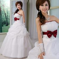 The bride wedding dress formal dress bow bride wedding sweet princess wedding dress