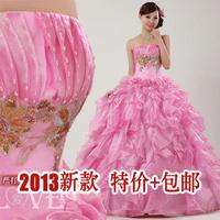Neutralizations 2013 multicolour wedding costume watermelon red wedding dress