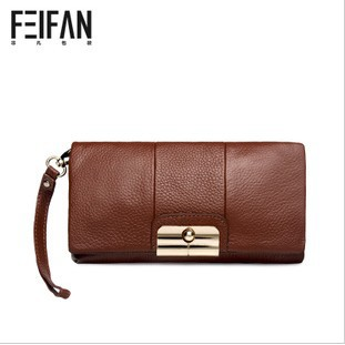 free shipping 2013 fashion cowhide leather multicolour long design women's day clutch,ladie's shoulder bags, purse(China (Mainland))