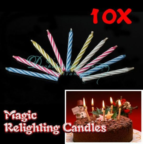DHL shipping Wholesale Magic Relighting Candles Birthday Tricky Toy Gift Eternal Candles Blowing(China (Mainland))