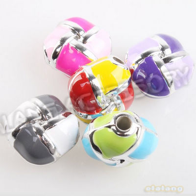 Good Quality Hotselling 60pcs/lot Square Style Enamel Beads Acrylic Charms Free Shipping For Jewelry Finding Making 152576(China (Mainland))