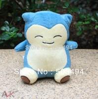 "Free Shipping 1pc Pokemon Plush Toy snorlax plush 5"" 15cm Cute Soft Stuffed Animal Doll Kid Gift"