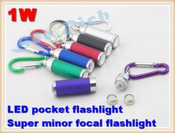 1W LED pocket flashlight Super minor Mini LED Torch LED Flashlight Adjustable Focus Zoom 40 lumens Gift Free shipping(China (Mainland))