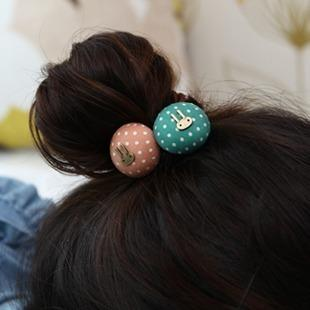 Accessories fashion rabbit hair band dot hair rope tousheng balls hair accessory hair accessory the first ring female(China (Mainland))