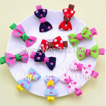 100pcs(50pairs)Free Shipping bowknot hair clip Baby Girl hairpin Girls Cute hairwear hairpin Spot Bow pin