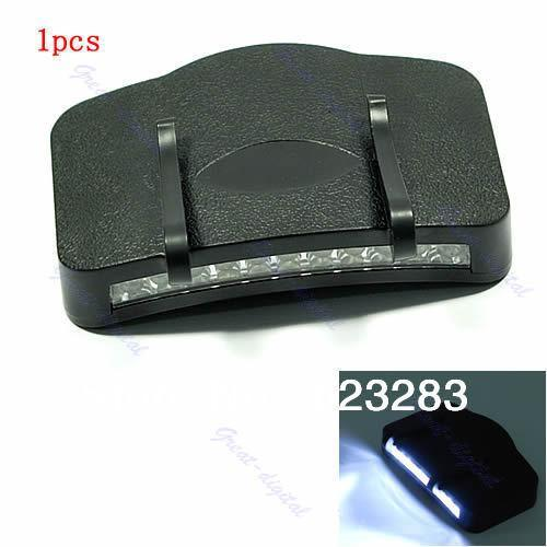 1pcs Black 11 LED Flashlight Camping Clip-On Cap/Hat Light Free Shipping(China (Mainland))