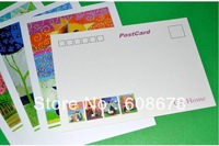 300g White Blank 142mmX100mm Hand-painted Cat  Illustrations Double-sided Color Postcard Freeshipping Wholesale (100pcs/lot)