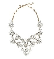 2013 new arrival Auth In stock High Quality JC CRYSTAL FLORAL STATEMENT NECKLACE,free shipping statement necklace