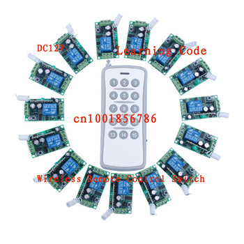 12V15CH RF wireless remote control switch system 15receivers&1 transmitter independently Toggle/Momentary/Latched Adjustable
