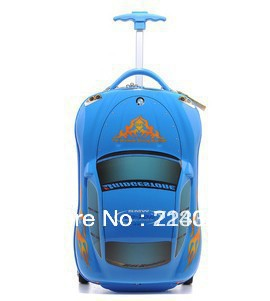 free shipping,2013 blue 95 cars gorge children Travel Pull rod box Boarding box(China (Mainland))