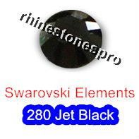 ss12 GENUINE Swarovski Elements Jet Black ( 280 ) 144 pcs ( NO hotfix Rhinestone ) Round Glass 12ss 2058 FLATBACK Bulk Crystal(Hong Kong)