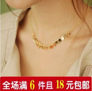 1841 accessories fashion personality all-match necklace skull chain necklace female 5g(China (Mainland))