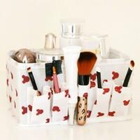 Gift desktop receive a box of small broken beautiful makeup cosmetics box