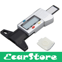 Digital LCD Tyre Tire Tread Depth Brake Shoe Pad Gauge