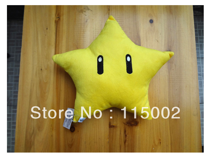 Free Shipping EMS 30/Lot Super Mario Bros Star 10&quot; (25CM) Plush Doll Cushion Wholesale(China (Mainland))