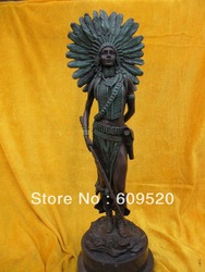 West Art classical bronze copper marble art sculpture warrior figurine Art Deco(China (Mainland))