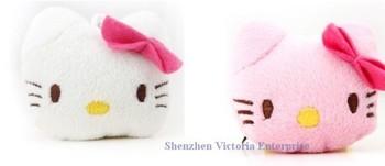 Kawaii Mini 100PCS Hello Kitty Mobile Cell Phone Strap Pendant Charm Strap Lanyard Key Chain ; Plush Stuffed TOY