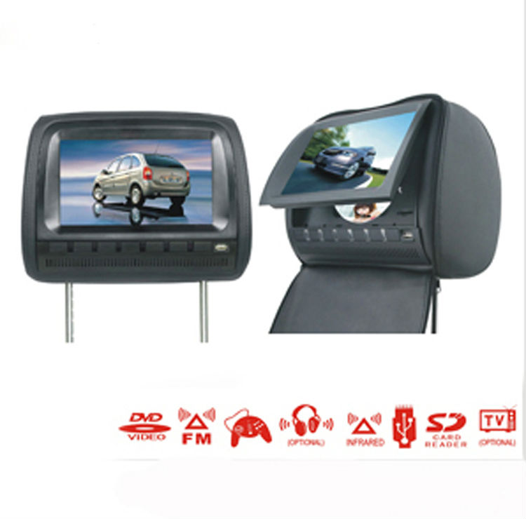 Deluxe 9 Inch Car DVD Player and Protective Screen Cover (Games, FREE Headphones, FM) 1pcs Free shipping!(China (Mainland))