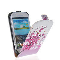 Wholesale or Retail THE PATRON SAINT OF PHONE FLOWER STYLE LEATHER FLIP POUCH CASE COVER FOR SAMSUNG GALAXY S3 MINI I8190
