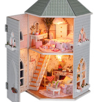 Handmade diy assembling wooden model child gifts, Diy dollhouse