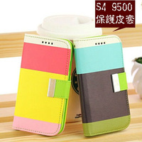 New Hybrid Leather Wallet Flip Pouch Stand Case Cover accessory for Samsung I9500 Galaxy S4 SIV
