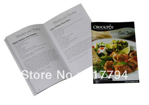 Customize Printing Cook Book, Food Catalogue Printing(China (Mainland))