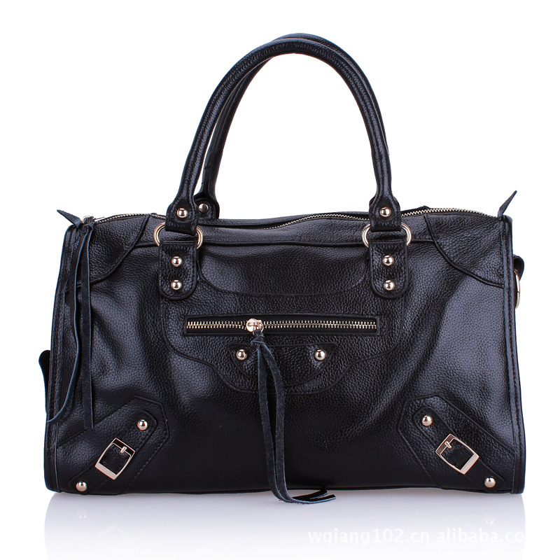 2013 new European style street tide of fashion leisure bag handbag shoulder bag leather handbag diagonal package 0216(China (Mainland))