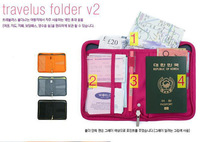 Drop Shipping Short Design Passport Bag Multifunctional Travel Document Package Storage Set Female Card Holder
