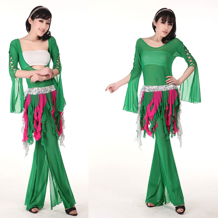 Body Thin Belt Slimming fitness new arrival belly dance performance wear costume usuginu belt culottes set beauty(China (Mainland))