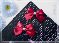 Wine red small bow hairpin pf accessories mini-hairpin
