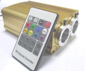 10*2w double hole LED RGB fiber optic illuminator,with 20key RF remote controller;AC100-240V input