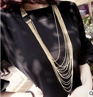 Min.order is $15(mix order)2013 Vintage jewelry Fashion Hot Sale Charms Choker Tassel Chain Necklace Pendant Accessories