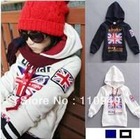 2013 child sweatshirt m word flag fashionable casual outerwear 4pcs/lot free shipping