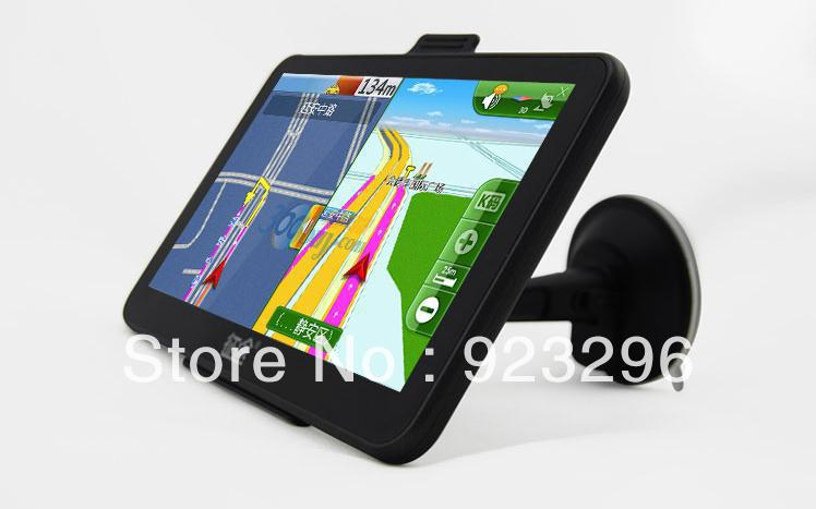 Free Shipping T70 Car GPS Navigator 7-inch +4 G+ FM mini-USB(China (Mainland))