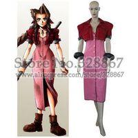 Kingdom Hearts Final Fantasy VII Aerith Halloween Cosplay Costume