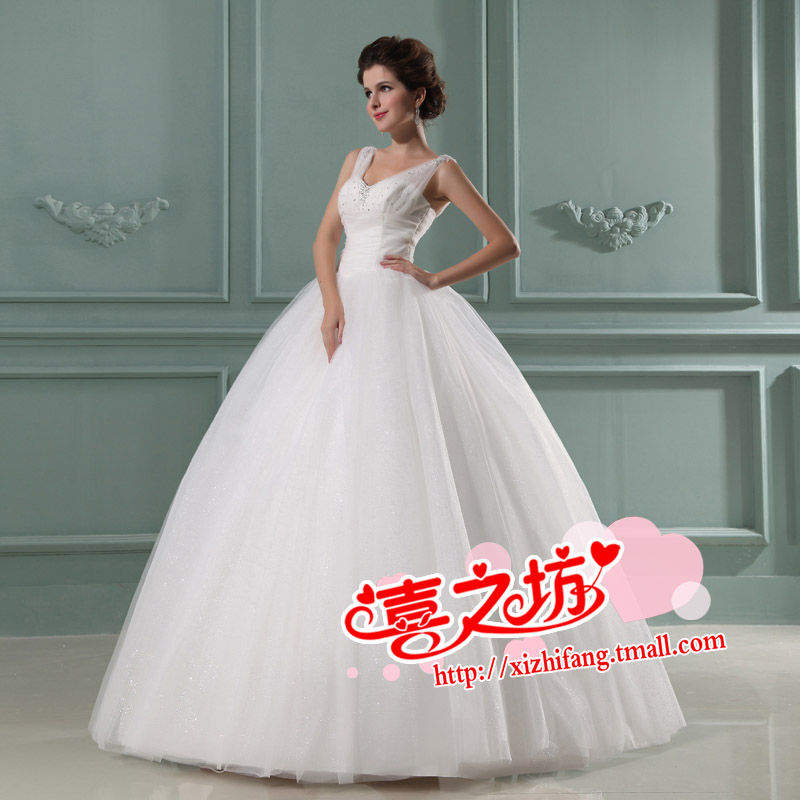 The bride wedding dress the bride wedding dress wedding dress advanced h069 lace(China (Mainland))