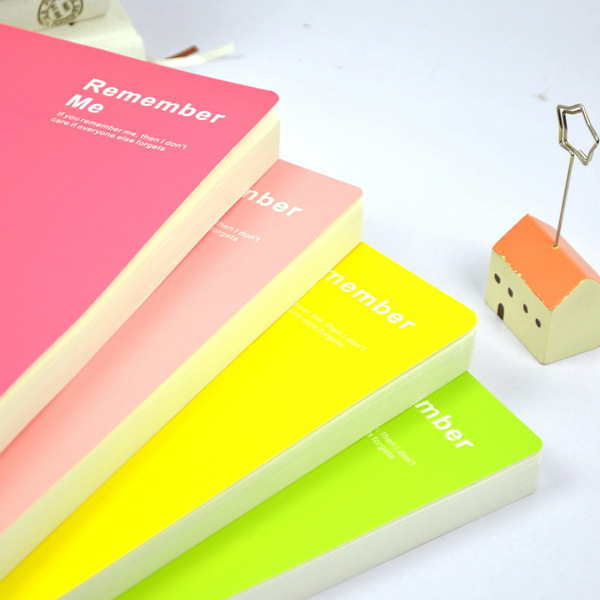 Korea stationery 32k candy color nuded this blank pages notebook diary cute diary notebook(China (Mainland))