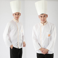 [10pcs/free ship] long-sleeve cook suit work wear work clothes pastry  Italian Restaurant  uniforms chef top [top only]