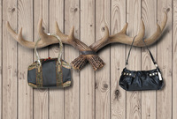 Fashion vintage personality home antlers wall bags coat hooks decoration