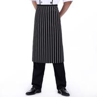 [20pcs/free ship] Black and white stripe chef apron wear-resistant work wear apron  men's apron women's apron