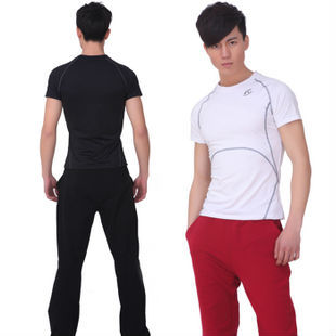 Male fitness clothing callisthenics clothes set yoga clothing js004 nk808(China (Mainland))